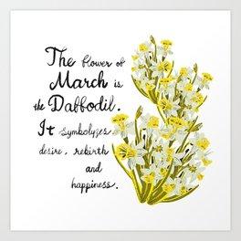 Daffodil - Birth Month Flower for March Art Print