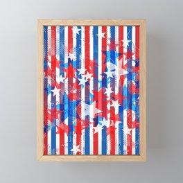 AMERICANA PATTERN Framed Mini Art Print