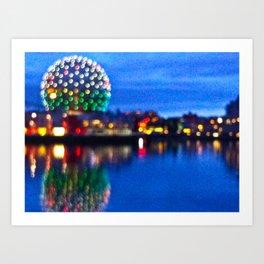 Blurry Vancouver Art Print