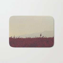 Field of Red Bath Mat