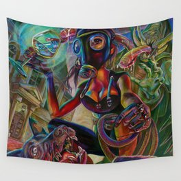 Lady Extinction Wall Tapestry