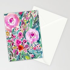 Pink Pow Wow Floral Stationery Cards
