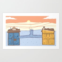 Neighborhood #1 (Tunnels) Art Print