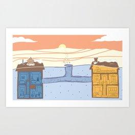 Neighborhood #1 (Tunnels) Art Print