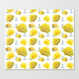 Anchors and Roses Canvas Print