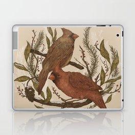 Wintery Cardinals Laptop & iPad Skin