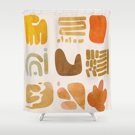 minimal abstract shapes Shower Curtain