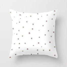 Franciscan Starburst, orange Throw Pillow
