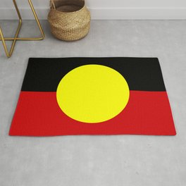 Flag of the australian Aboriginal Rug