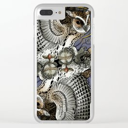 Owl Deck: King of Diamonds Clear iPhone Case