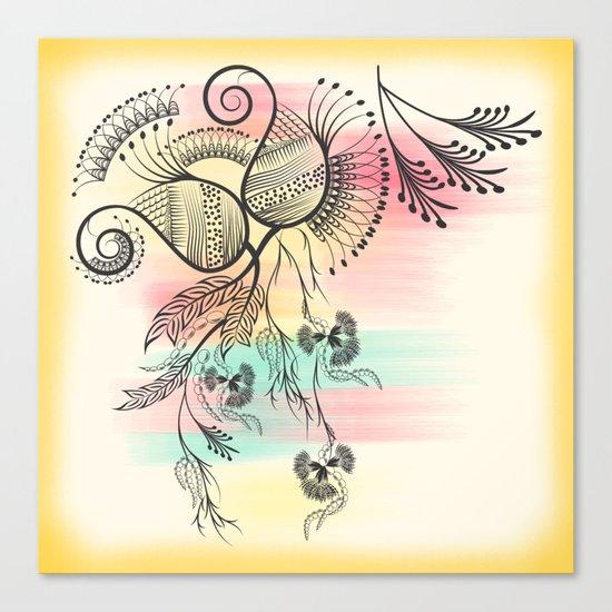 Decorative Floral Canvas Print