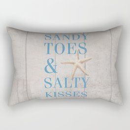 Sandy Toes and Salty Kisses Rectangular Pillow