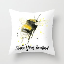 Shake Your Beehind - Punny Bee Throw Pillow