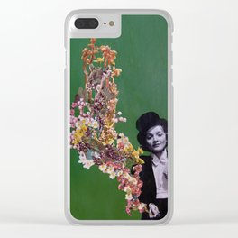 Floral Fumes II Clear iPhone Case