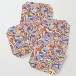 Party in Orange and Blue Coaster