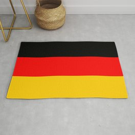 Black Red and Yellow German Flag Rug