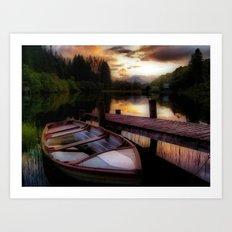 Summer Sunset Over Loch Ard Art Print