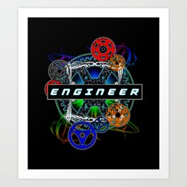 Engineer Gear Art Print