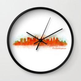 Philadelphia City Skyline Hq V3 Wall Clock