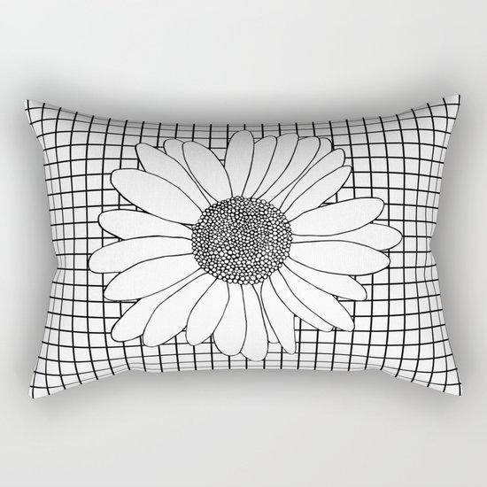 Daisy Grid Rectangular Pillow