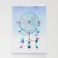 dream catcher Stationery Cards featuring Dream Catcher by General Design Studio