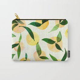 Sunny Lemon Print ~ Yellow and Green Carry-All Pouch