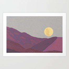 Pink Moment, Ojai Art Print