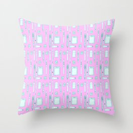 an artists pattern Throw Pillow