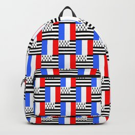 Mix of flag: france and brittany Backpack