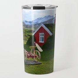 Lindarbakki Turf House in Borgarfjörður-Eystri in East-Iceland Travel Mug