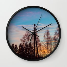 Sunset Vibe Wall Clock