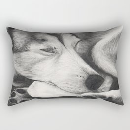 Sleeping Wolf Rectangular Pillow