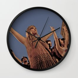 Peaceful Protest Wall Clock