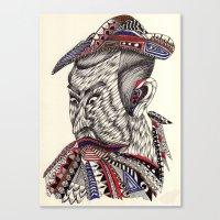 samurai Canvas Prints featuring Samurai  by Geek World