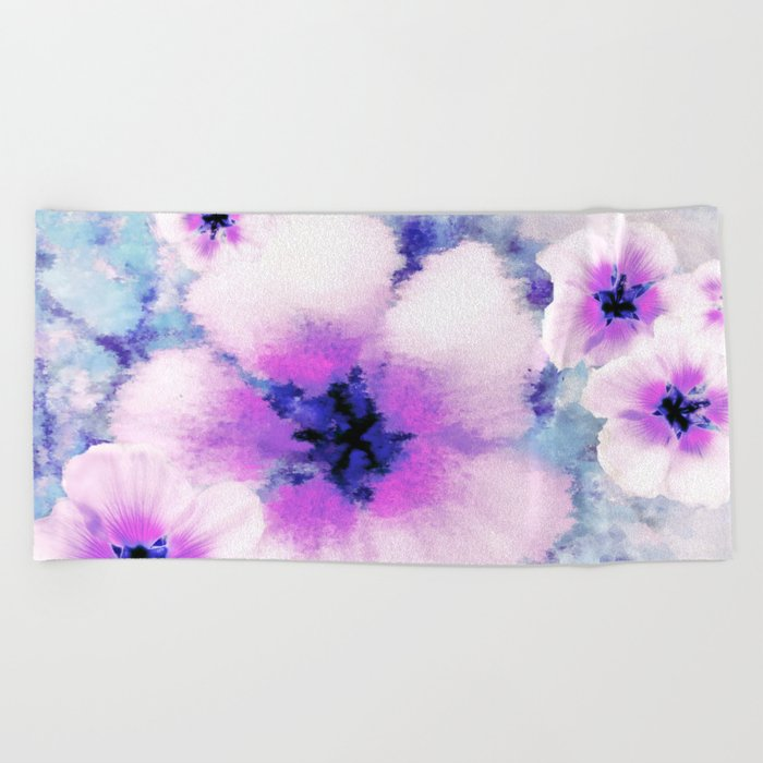 Rose of Sharon Bloom Beach Towel