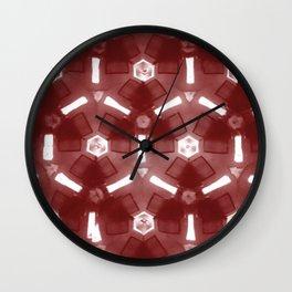 Modern Moroccan Red Wall Clock