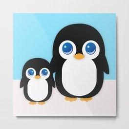 Adorable Penguins Metal Print