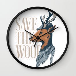 An Unique and Attractive Classy Deer Graphic Design Wall Clock