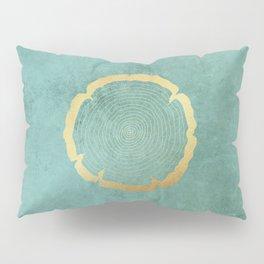 Gold Foil Tree Ring Pillow Sham