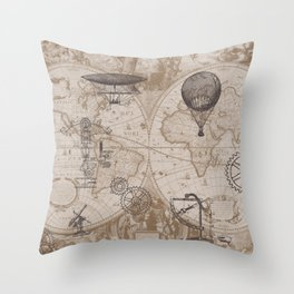 Gears of Flight Throw Pillow
