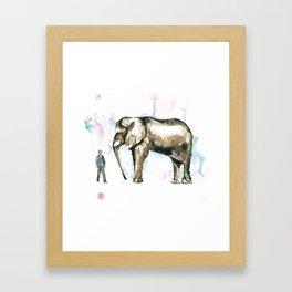 Jumbo elephant Framed Art Print