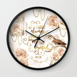 Jane Eyre - Dignified Wall Clock