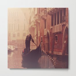 Gondolier at work Metal Print
