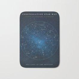 Constellation Star Map Bath Mat