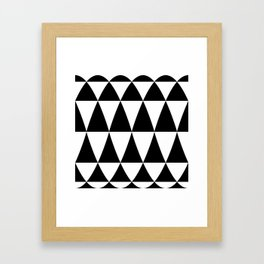 Triangle waves and swirls Framed Art Print