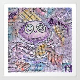 Teo Macerowl Art Print