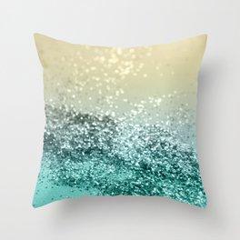 Lemon Twist Beach Glitter #2 #shiny #decor #art #society6 Throw Pillow