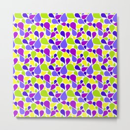 Spring color paislies Metal Print