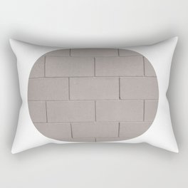Muted Textures: Wall No. 1 Rectangular Pillow