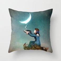 Moondrops Throw Pillow